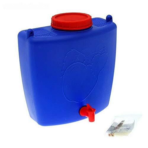 4Big.fun Wasserspender 9 L mit Wasserhahn Camping Gartenhaus Blau Datscha Rukomojnik Kanister blau