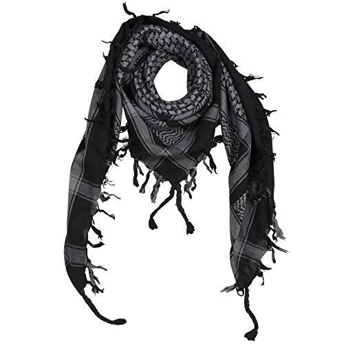 Superfreak Palituch - schwarz - grau - 100x100 cm - Pali Palästinenser Arafat Tuch - 100% Baumwolle