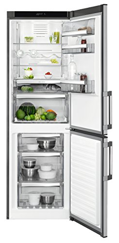 AEG RCB63327OX Kühl-Gefrier-Kombination / 214 l Kühlschrank / 91 l Gefrierschrank /15 l 0 °C-Kaltraum / freistehender Kühlschrank / A++ / Kühl-Gefrierkombi mit NoFrost / H: 184,5 cm