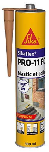 Sikaflex PRO 11 FC Purform Beige, Mastic polyuréthane PU tout en 1, mastic multi-matériaux, mastic étanche intérieur et extérieur, 300ml