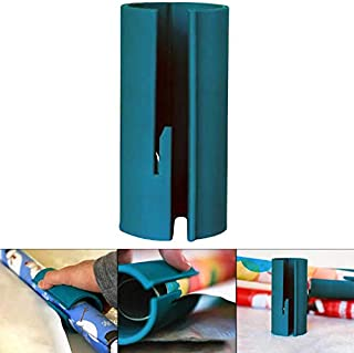 Wrapping Paper Cutter Tool for Christmas Mini Wrapping Paper Cutter Tube Cutting Sliding Portable Wrapper Paper Roll Cutter