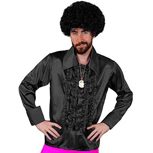 I LOVE FANCY DRESS LTD Camisa DE Disco Negra para Adulto Estilo AÑOS 70S Fiestas TEMATICAS O Carnaval (XL)