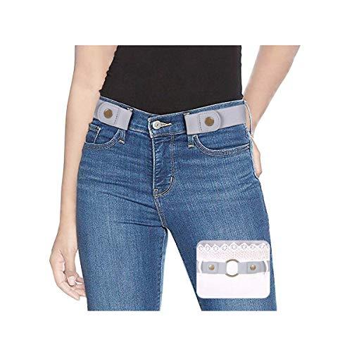 SUOSDEY Taillen Gürtel Damen,Stretchgürtel Damen,Elastischer Gürtel Unsichtbarer Gürtel für Jeans Hosen,Grau,60-84