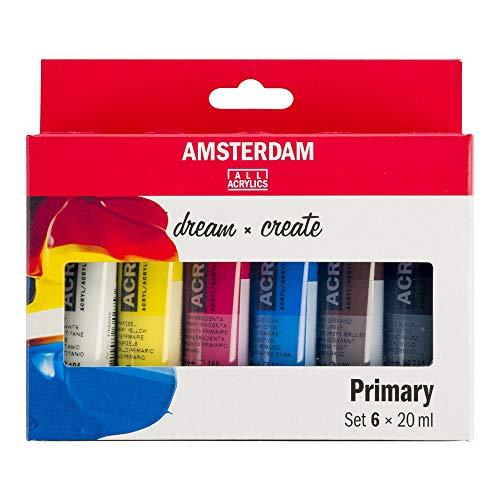 Talens Juego de pinturas acrílicas Amsterdam Primär, 6 x 20 ml