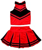 Little Girls' Cheerleader Cheerleading Outfit Uniform Costume Cosplay Halloween...