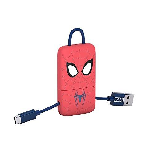 Tribe Marvel Cavo Micro USB (22 cm) per Trasmissione Dati e Ricarica per Android, Samsung, HTC, Nokia, Sony e Altri - Spiderman, CMR31605