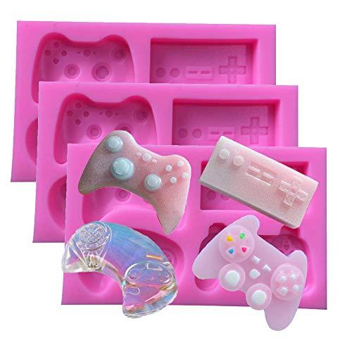 ALUYF 3 Stück Game Controller Silikon Formen Game Controller Mold Für Kuchen Schokolade Pudding Dessert Formen Game Controller Form Kuchenform