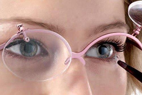 CentroStyle Gafas para Maquillaje en Metal Italiana Flip up +2.00 +2.50 +3.00 (+2.50)