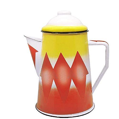 Stovetop Kettles Enamel Ceramic Middle East Saudi Coffee Pot Red Teapot Wine Glass Mug for Bulk Tea