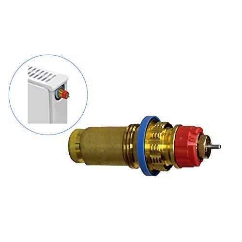Einbauventil N rote Einstellkrone Serie 4 für Buderus VK-VKM-VC-VCM Heizkörper