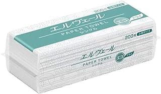 エリエール 大王製紙 ペーパータオル エコヴェール・エコドライ シングル 小判 200枚入×42袋 703509