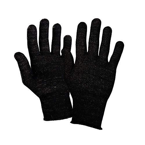 Deluxe-Handschuhe für Raynaud-Syndrom, 12 % Silber Gr. S-M, Schwarz