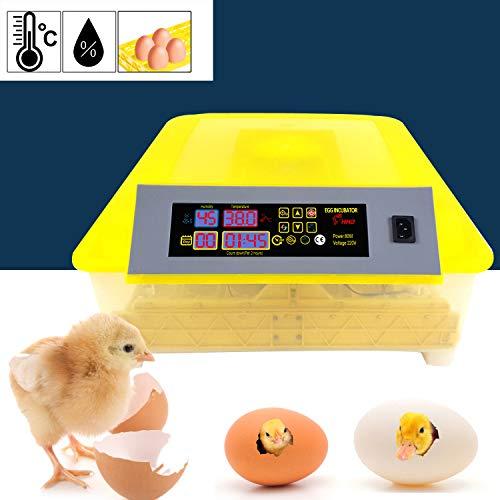 Bunao 48 Eier Inkubator Vollautomatische Brutmaschine Brutkasten Brutapparat Flächenbrüter Automatische Geflügel Brüter Brutmaschine Inkubation (Updated 48)