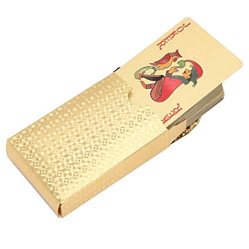 YOIM Cartas de póquer, Naipes, Juegos de Mesa Juegos de Mesa para Fiestas en casa(Golden Box)