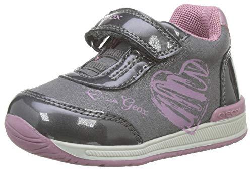 Geox B RISHON Girl B, Zapatillas para Bebés, Gris (Dk Grey/Pink C0952),...