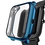Kmasic Compatibile Amazfit Bip Custodia Silicone Morbida Custodia Antiurto Custodia Protettiva Anti-Graffio per Xiaomi Huami Amazfit Bip Youth Smartwatch, 2 Pacchi Cancella/Cancella (Cool Blue)