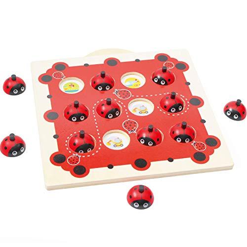 Lanyin Niños de madera de la memoria del partido del ajedrez del juego de juguetes educativos del cerebro