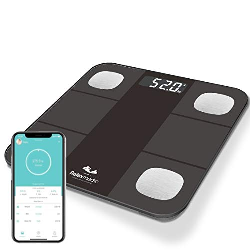 Balança Digital Bioimpedância c/Aplicativo Bluetooth Smart App - Relaxmedic
