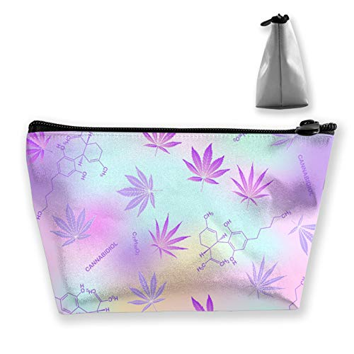 Cannabis leaves and cbd formula Portable Travel Cosmetic Bags Multifunction Toiletry Organizer Bag Large Capacity Makeup…