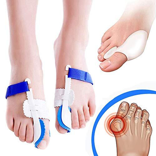 Vico™ Tutore Alluce Valgo Correttore Separatore Divaricatore Notte Giorno Silicone Gel Dita dei piedi