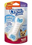 Hartz Chew 'n Clean Twisty Bone Dog Chew Toy, Bacon Scented Chew Toy for Moderate Chewers, Extra Small, Color Varies