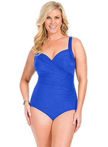 ruched swimsuit to camouflage the love handles
