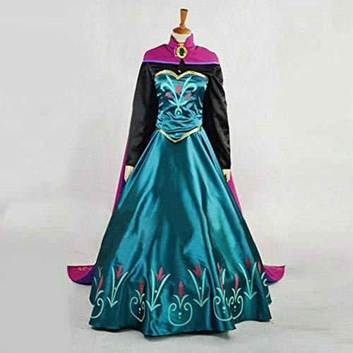 XL Snow Queen anna vestido adulto 2 princesa anna coronación cosplay disfraz película fiesta mujer disfraces personalizado