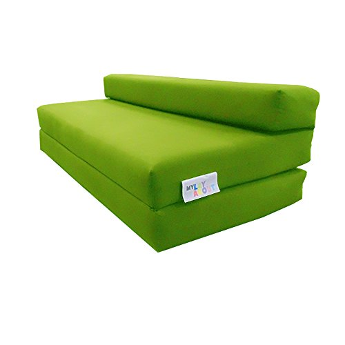 My Layabout Double Z Bed/Guest Bed/Fold Out Spare Bed Sofa/Chair/Futon/Mattress   Lime Green