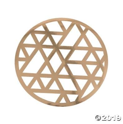 Check Out This Gold Laser Cut Chargers (24 Pieces) Modern Wedding and Party Decor