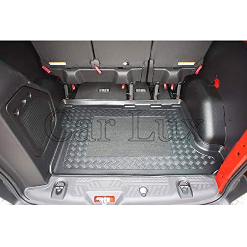 Car Lux - AR01766 Alfombra cubeta Protector Cubre Maletero con Antideslizante y Borde Alto