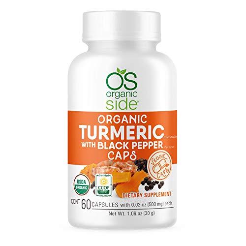 Organic Turmeric with Black Pepper 60 Capsules - Antioxidants - Certified USDA - Non GMO - Vegan