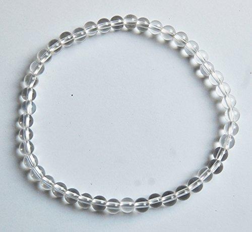 Edelstein-Armband Bergkristall, Kugeln, Ø 4 mm