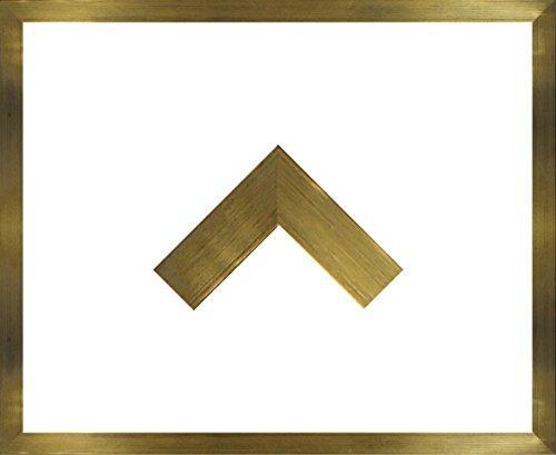 Massivholz-Bilderrahmen Jersey 25 x 30 cm. Fertigung nach Maß in verschiedenen Farben. Hier: Gold mit 1mm Acrylglas klar