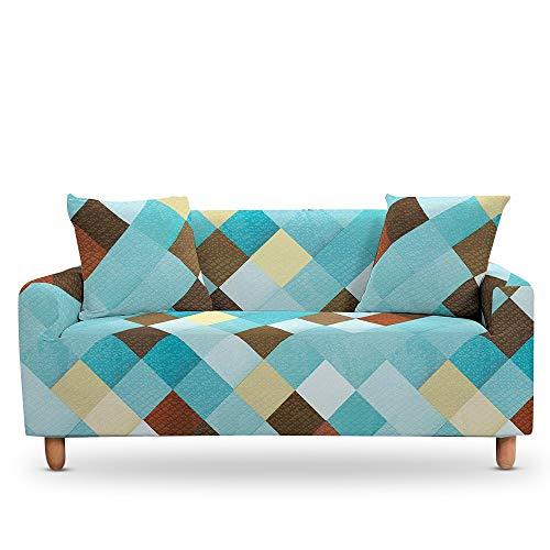 ASCV Geometrische Marmorkissen Universal Armchair Furniture Covers Elastic Case auf der Ecksofabezug A6 2-Sitzer