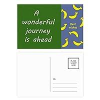 は、wenderful旅行先 バナナのポストカードセットサンクスカード郵送側20個