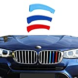 Tira ajuste de la parrilla parachoques delantero del coche, para BMW X1 X2 X3 X4 X5 X6 X7 E84 F48 F49 F39 E83 F25 G01 F26 G02 E70 F15 E53 G05 E71 E72 F16 G06 G07, plástico ABS tricolor