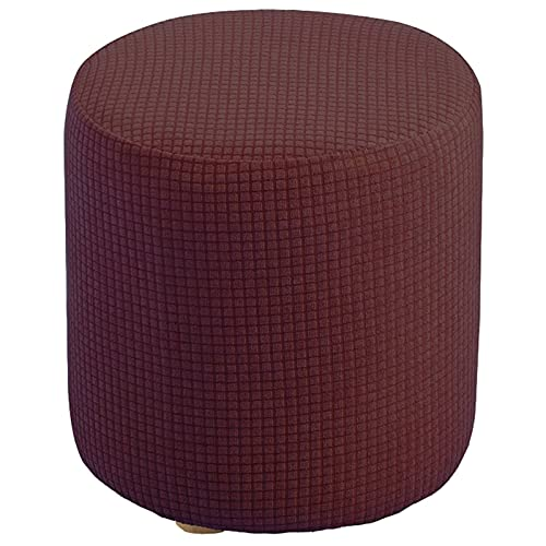 Stretch Ottoman Cover, Ottoman Slipcover Stretch FootStool Protector Round Folding Storage Stool Furniture Protector Machine Washable For Living Room Bedroom-coffee-Small