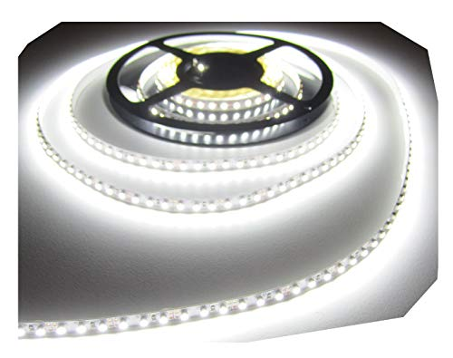 LED STRIP STRIPE STREIFEN LEISTE 5mt weiss kaltweiss 600LED SUPERHELL 12V 38 Watt