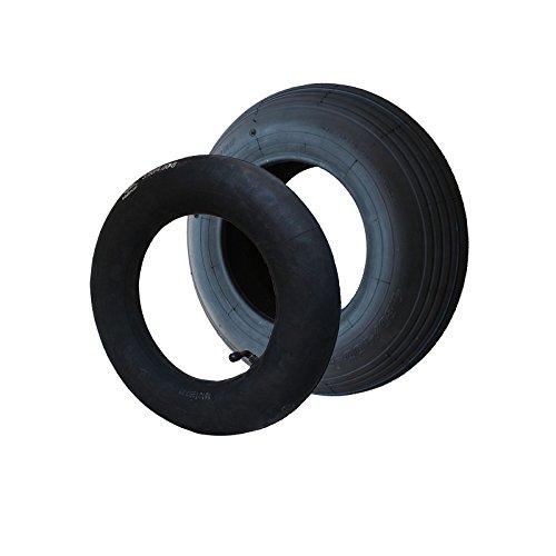 SET Reifen+Schlauch 400x100 4.80/4.00-8 Rillen Profil PR4-Lagen WV Tragfähigkeit 305 kg
