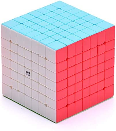 LiangCuber Qiyi 7x7 Speed Cube Stickerless Qiyi Qixing S 7x7x7 Color Magic Cube Puzzle Toy product image