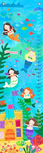 Oopsy Daisy croissance Tableau, 12 par 107 cm, toile, Mermaid Performance, Aqua, Mermaid Performance