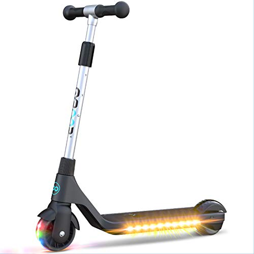 Gyroor Electric Kick Scooter H30 for Kids, Teens, Boys and Girls, Lightweight and Adjustable Handlebar, Rechargeable Battery, 6 MPH Limit-Best Gift for Kids!-Black