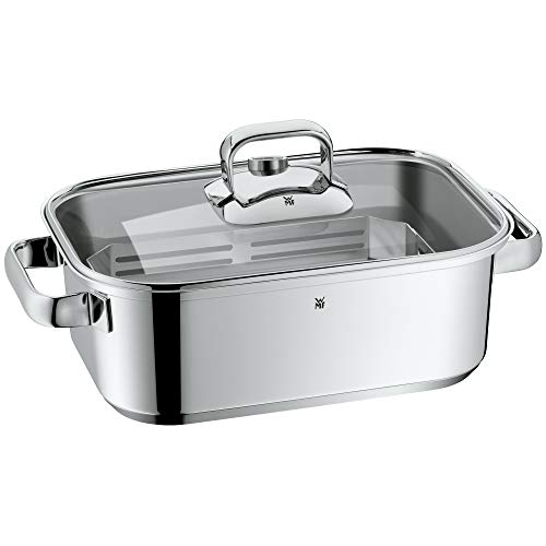 WMF 17 4005 6040 steamer - Vaporera (Stainless steel, Glass, Stainless steel, 300 x 210 x 100)