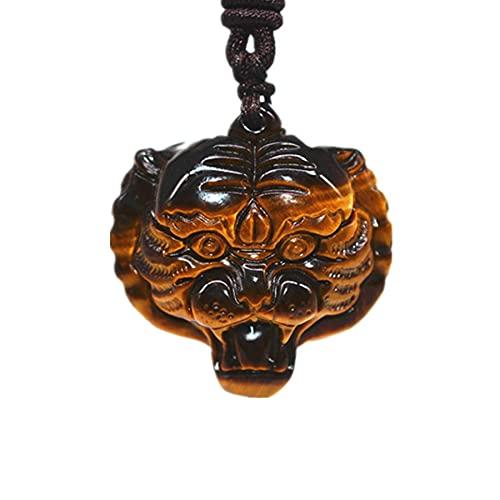 Collar colgante de cuentas de ojo de tigre natural colgante de jade collar de tigre transferencia de joyería joyería de jade encantadora de la suerte
