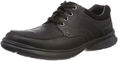Clarks Cotrell Edge, Zapatos de Cordones Derby Hombre, Negro (Black Oily Lea), 40 EU