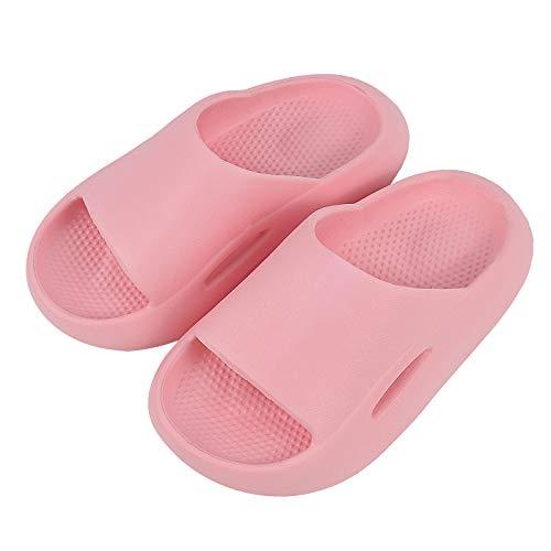 DODY Boys Girls Slide Sandals Toddler/Little Kids Cute Lightweight Kids Summer Beach Pool Bath Shower Slippers Non-Slip Thickened Pink 190