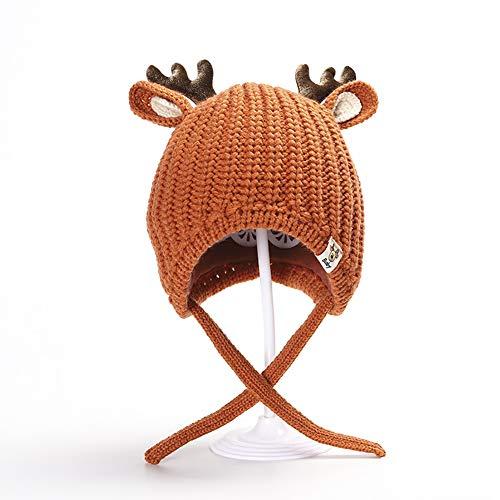 Yisily 1 PC Sombrero de niño De Punto Orejeras Navidad Linda Astas de