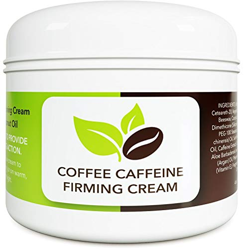 Natural Coconut Coffee Body Cream - Concealing Cellulite Cream and Natural Body Moisturizer for Dry Skin with Shea Butter - Whipped Body Butter and Caffeine Eye Cream for Anti Aging Skin Care