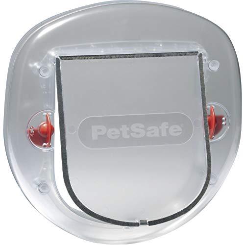 PetSafe Staywell Katzenklappe blickdicht, 4 Verschlussoptionen, Teleskoprahmen, Tunnel, 29 x 29,10 cm, große Katzen + kleine Hunde