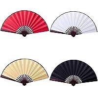 写真の小道具絵画10インチ/ 13インチ絹布の空白中国の扇子木製竹古代の手のファンのために書道 (Color : Yellow, Fan Size : 13inch)